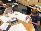 students working on an assignment together